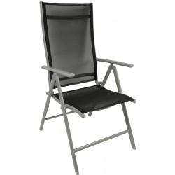 Fotel krzesło ogrodowe 7 pozycyjne Saniago czarne