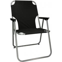 Krzesło ogrodowe składane czarne