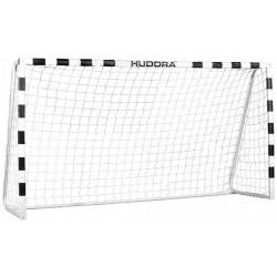 Bramka do piłki nożnej Hudora Stadion z siatką 300x200x90cm biało czarna