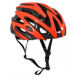 Kask rowerowy regulowany Dunlop czerwony R.L