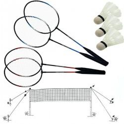 Zestaw do badmintona 5W1 słupki siatka rakiety lotki pokrowiec SCATCH 500