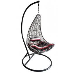 Huśtawka fotel bujany slim kolor biały/czarny
