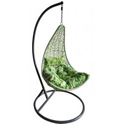 Kokon fotel wiszący kokon slim zielono-biały