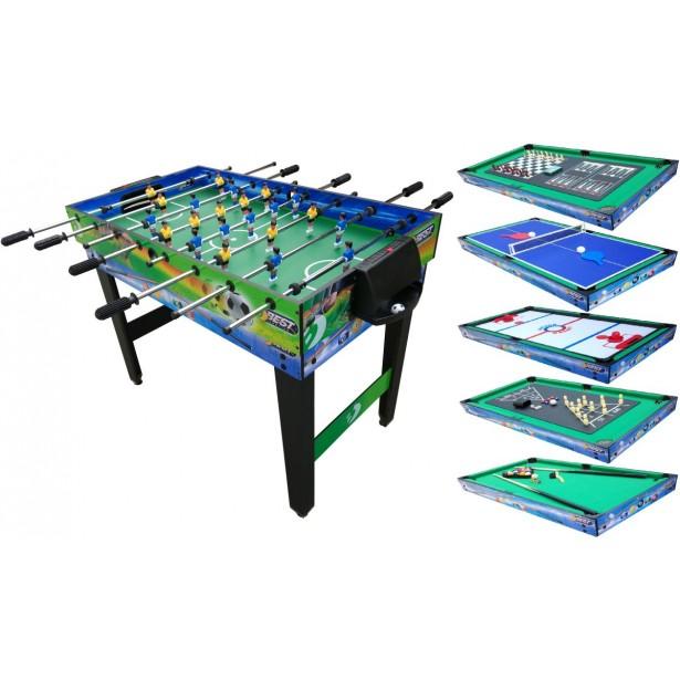 Piłkarzyki Bilard Tenis Stołowy Cybergaj 10w1 Best Sporting