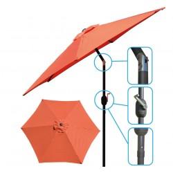 Parasol ogrodowy 250cm składany pomarańczowy Saska Garden