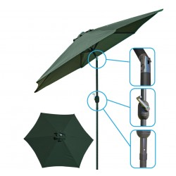 Parasol ogrodowy 300cm składany zielony Saska Garden