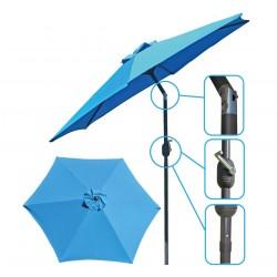 Parasol ogrodowy 250cm składany błękitny Saska Garden