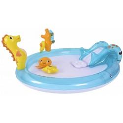 Basen dziecięcy plac zabaw Morskie zwierzątka 198x175x40cm 57173