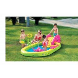 Basen dziecięcy plac zabaw wodne zwierzątka 298x165x55cm 97009