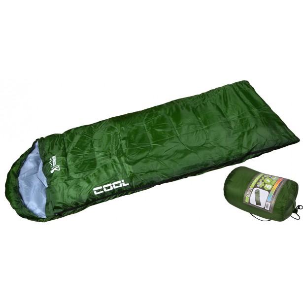 Śpiwór turystyczny mumia kołdra Cool zielony