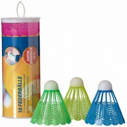 Lotki do badmintona nylon kolor Kpl 10szt