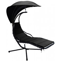 Huśtawka fotel bujany Lea czarna Saska Garden