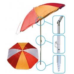 Parasol Plażowo Balkonowy Royokamp Śr. 220cm Czerwono - Pomarańczowy