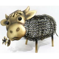 Lampa solarna LED figurka ogrodowa Krowa