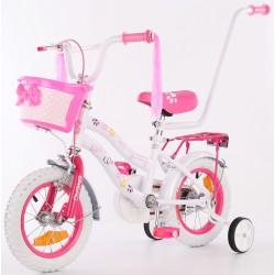 Rower dziecięcy 12 cali z wyposażeniem Enero Love Kitty