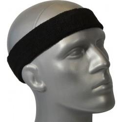 Frotka opaska tenisowa na głowę czarna Athlitech