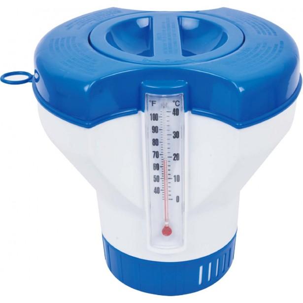 Pojemnik do basenu na tabletki tlenowe z termometrem 290467