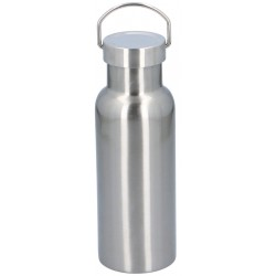 Butelka Termiczna Turystyczna Alpina 500 ml z uchwytem - srebrny