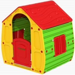 Ogrodowy magiczny domek dla dzieci 102x90x109cm żólto czerwony