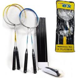 Zestaw do badmintona 5w1 słupki siatka rakiety lotki pokrowiec EXTREME PRO 500