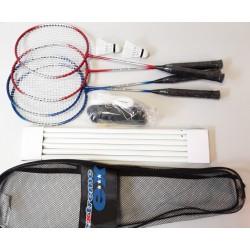 Zestaw do badmintona 5w1 słupki siatka rakiety lotki pokrowiec EXTREME 500