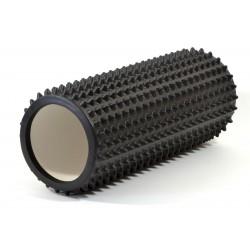 Wałek roller do ćwiczeń kolce drobne 825g czarny