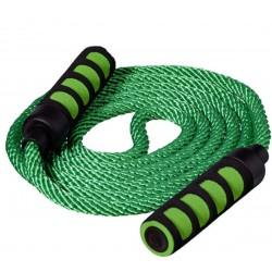 Skakanka bawełna 280cm BEST SPORTING miękkie rączki - Zielona