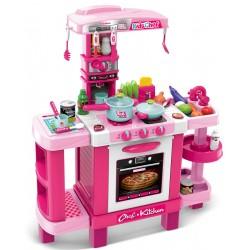 Kuchnia dla dzieci 37 elementów różowa 78x29x87cm