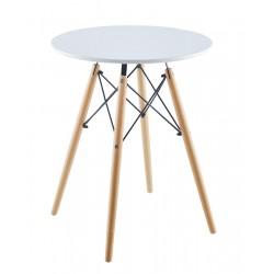 Stół okrągły Matera biały 60x60cm Saska Garden