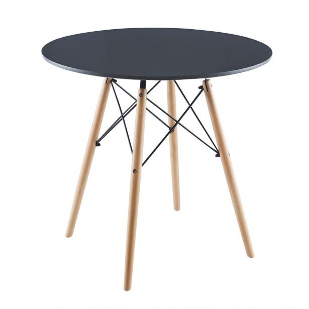 Stół okrągły Matera szary 80x80cm Saska Garden