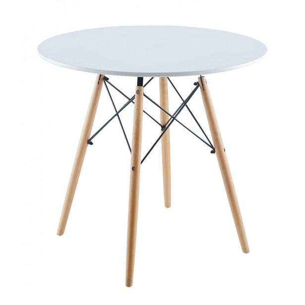 Stół okrągły Matera biały 80x80cm Saska Garden