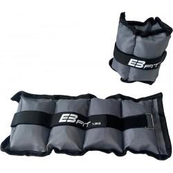 Obciążenie na przeguby szare 2kg (2X1kg) Eb Fit