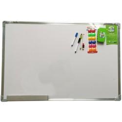 Tablica magnetyczna suchościeralna 90x60cm biała z akcesoriami