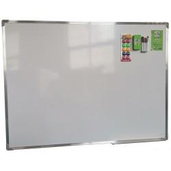 Tablica magnetyczna suchościeralna 120x90cm biała z akcesoriami