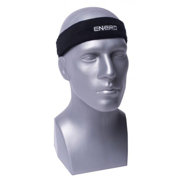 Frotka opaska tenisowa na głowę czarna Enero