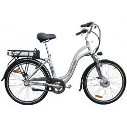 Rower Miejski Elektryczny Interbike Mistral 26 LX srebrny