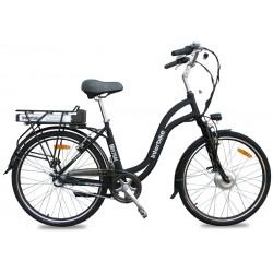 Rower Miejski Elektryczny Interbike Mistral 26 LX czarny