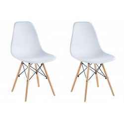 Krzesło Matera białe kpl 2szt Saska Garden