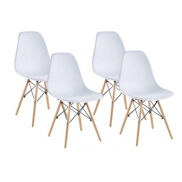 Krzesło Matera białe kpl 4szt Saska Garden