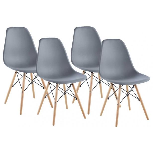 Krzesło Matera szare kpl 4szt Saska Garden
