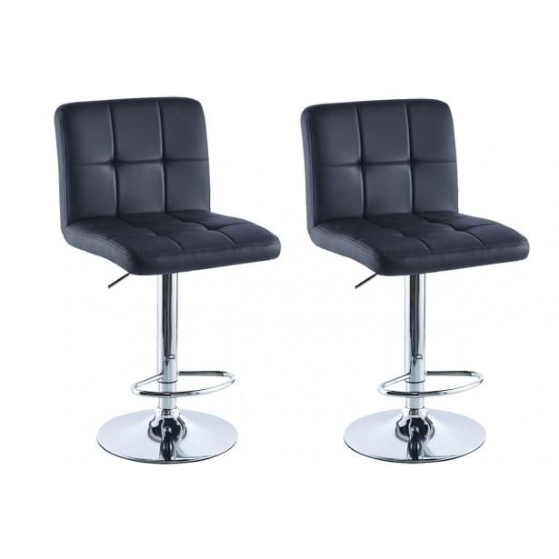 Hoker krzesło barowe czarne kpl. 2szt Saska Garden
