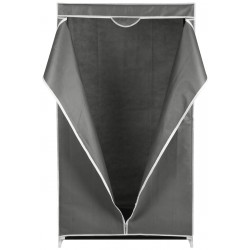 Szafa tekstylna garderoba jasny szary 80x50x160cm