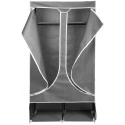 Szafa tekstylna garderoba 90x45x170cm jasno-szara 8828