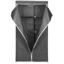 Szafa tekstylna garderoba 90x45x170cm jasno-szara 8804