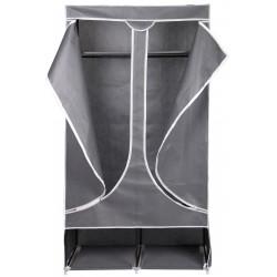 Szafa tekstylna garderoba 90x45x170cm ciemno-szara 8835