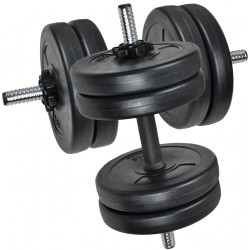 Zestaw hantli kompozytowych 22kg 2x11kg Eb Fit