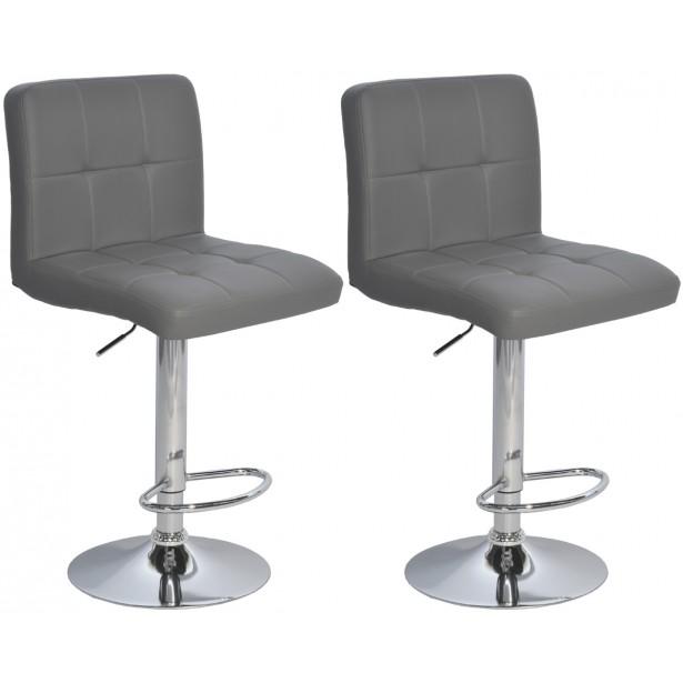 Hoker krzesło barowe szare kpl. 2szt Saska Garden