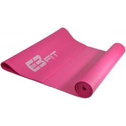 Mata do ćwiczeń fitness jogi 170x60x0,3cm różowa Eb fit