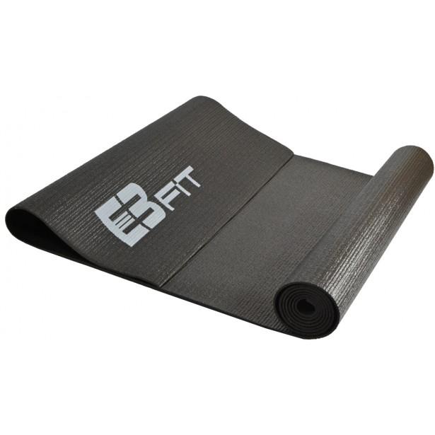 Mata do ćwiczeń fitness jogi 170x60x0,3cm czarna Eb fit