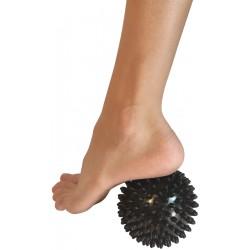 Piłeczka z kolcami do masażu 9 cm czarna EB FIT